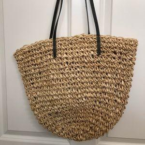 J. Crew straw shoulder bag